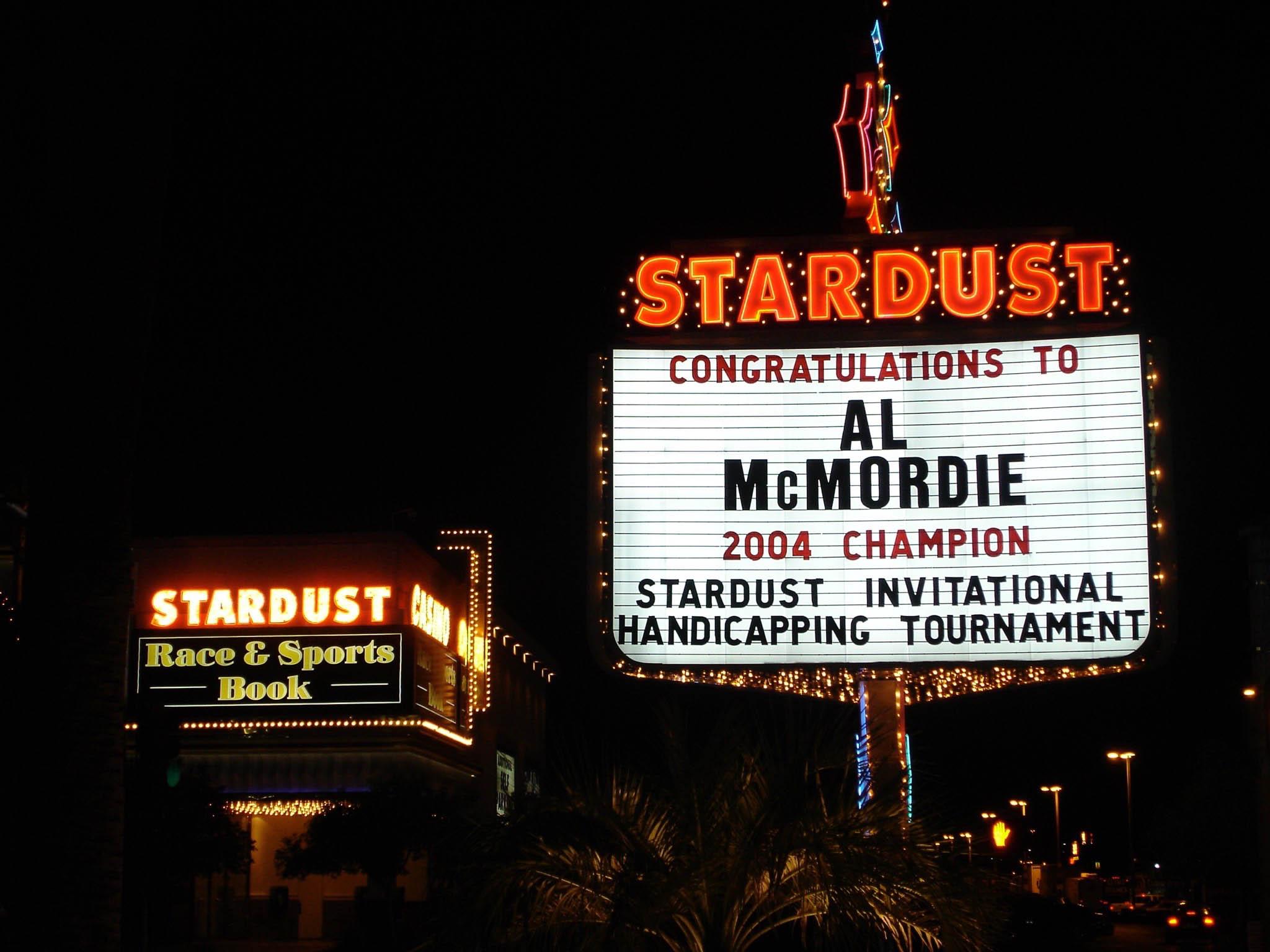Stardust Invitational Handicapping Tournament Champion